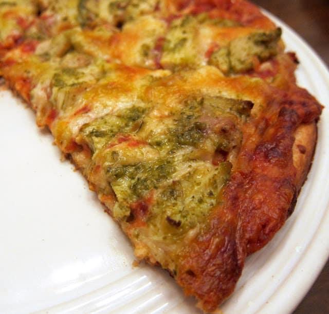 Easy Chicken Pesto Pizza