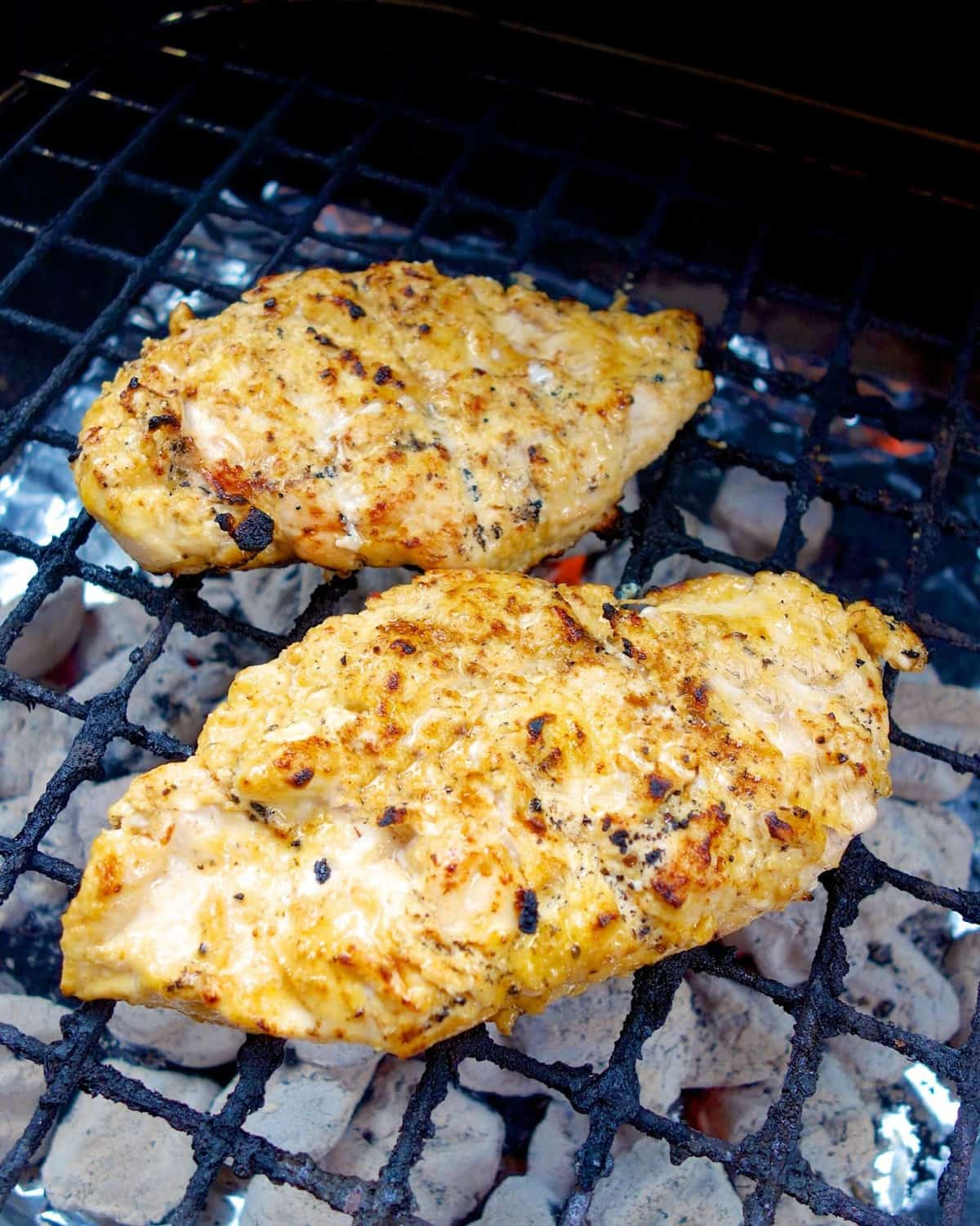 Lemon Garlic Marinade - our favorite! SO simple and SOOO delicious! Chicken marinated in olive oil, dijon mustard, garlic, salt, pepper and lemons. Everyone raves about this chicken!! TONS of flavor!