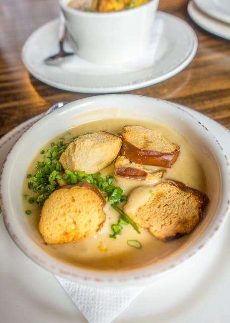 Beer Cheese Soup at Prohibition Kitchen - Where to Eat in St. Augustine, Florida - we found several hidden gems in St. Augustine that you MUST try on your next trip. Pizza, Burgers, Sandwiches, Craft Cocktails, and CRAZY milkshakes! Something for everyone!!