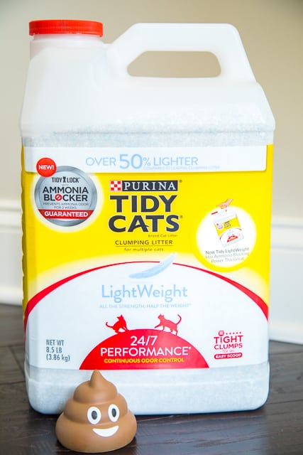 Beat litter box odor with the NEW Tidy Cats LightWeight with Ammonia Blocker. When used as directed, the TidyLock technology is guaranteed to block ammonia odor for two weeks!