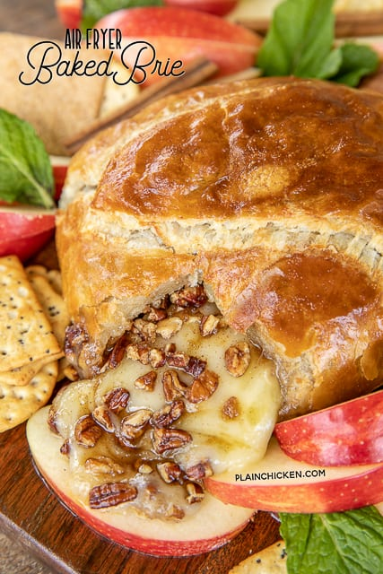 baked brie on a platter