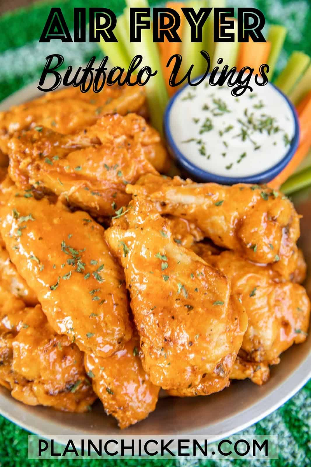 plate of buffalo chicken wings