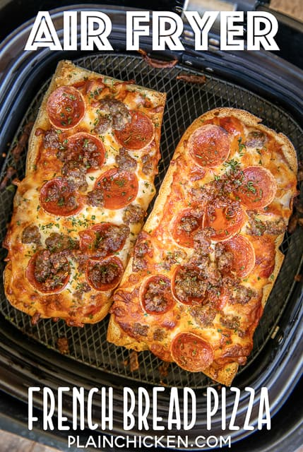 french bread pizza in an air fryer