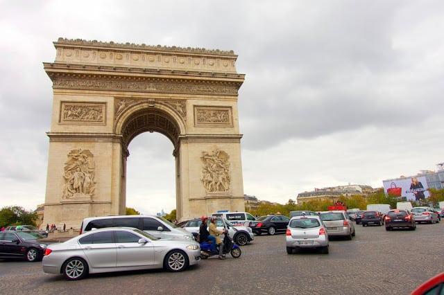 Arc de Triomphe on the Champs-Élysées in Paris, France
