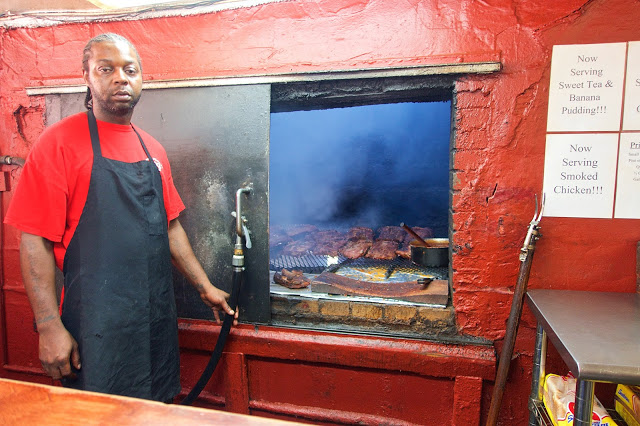 BBQ Pit at Archibald's BBQ in Northport, Alabama