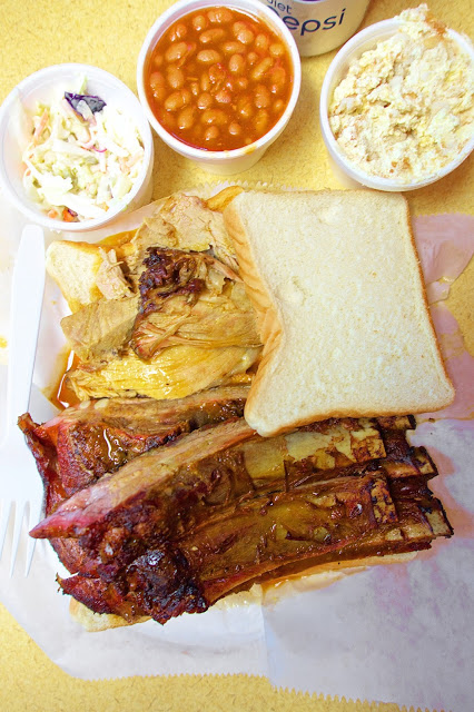 Large Mixed Grill Plate at Archibald's BBQ in Northport, Alabama