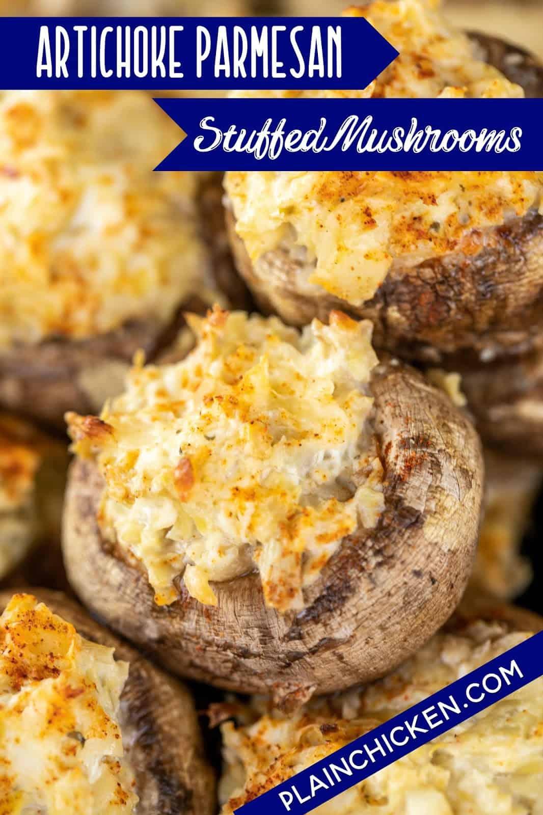 artichoke stuffed mushrooms
