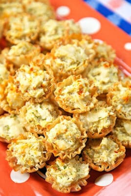 artichoke appetizer bites on a platter