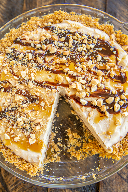 peanut butter pie in pie plate