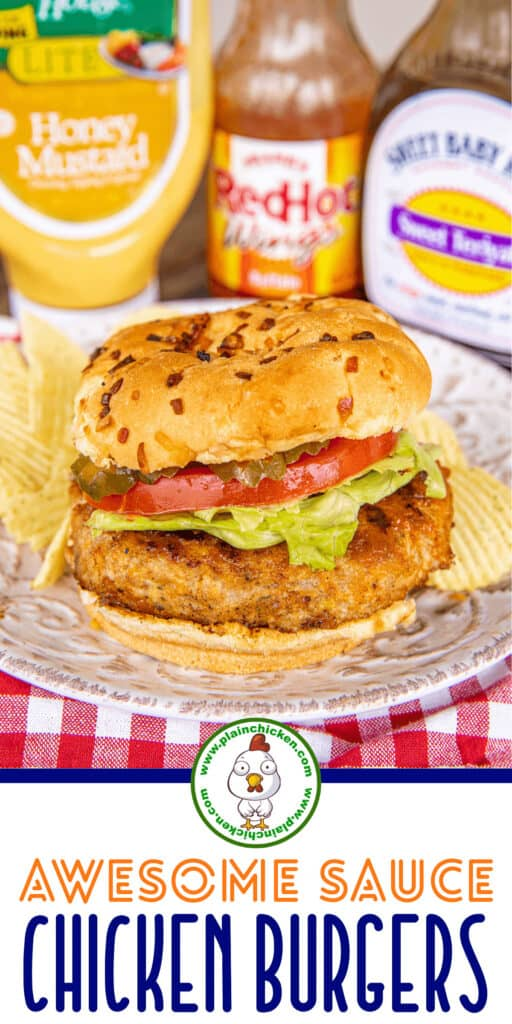 awesome sauce chicken burgers