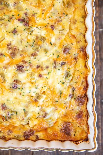 bacon & green chiles breakfast casserole