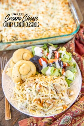 baked cream cheese chicken alfredo casserole