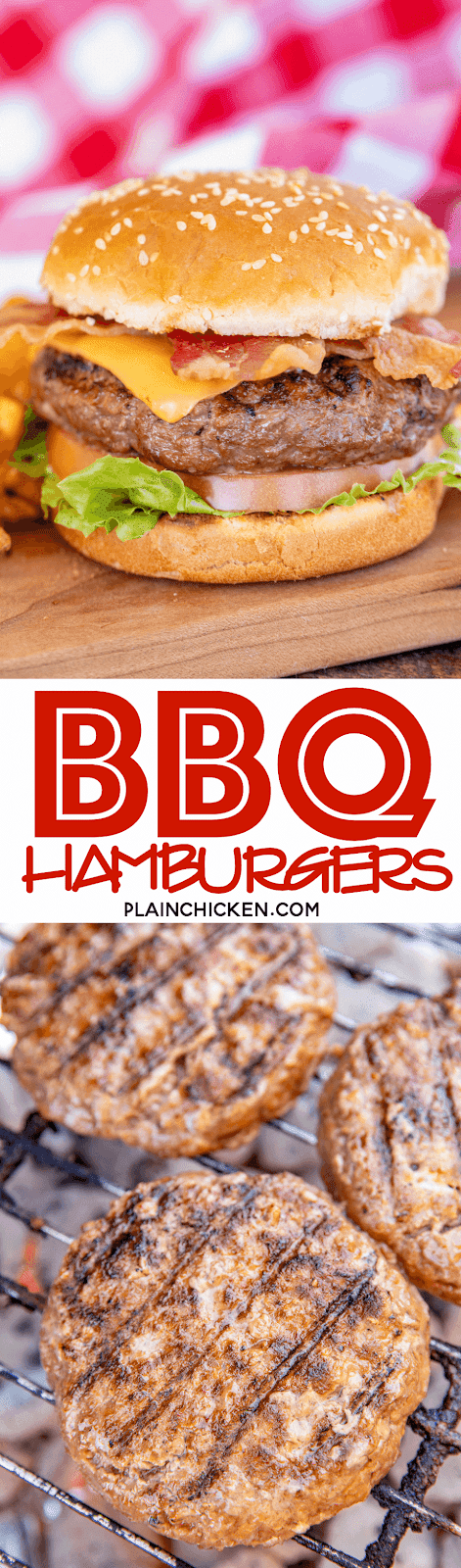 Grilled Bbq Burgers Plain Chicken
