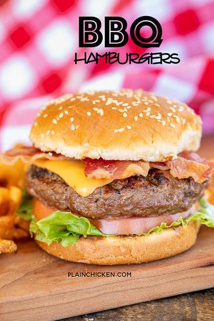 Grilled BBQ Burgers - Plain Chicken