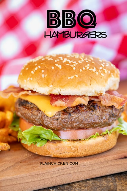 hamburger on a platter