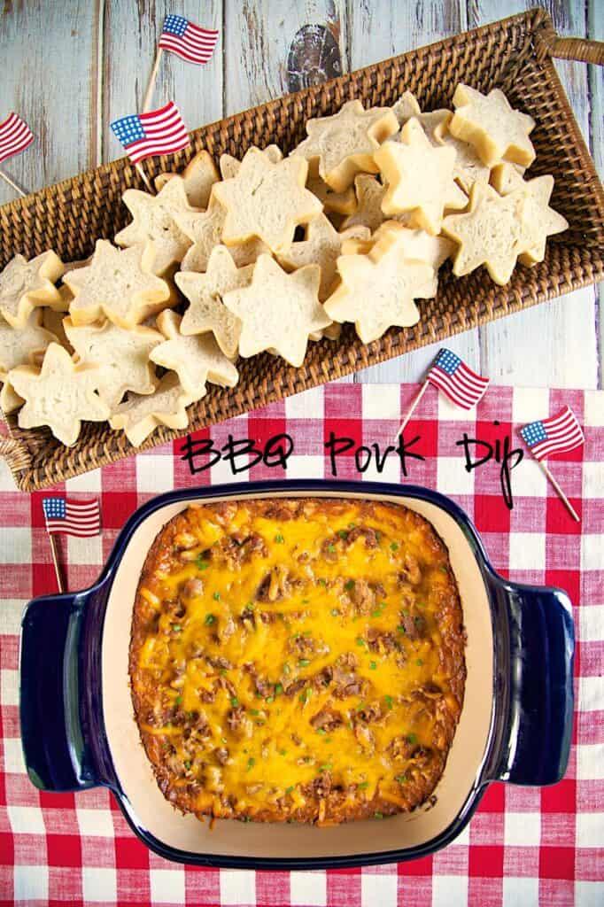 dip in baking dish