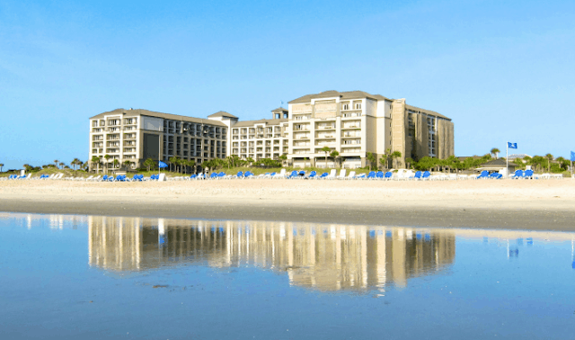 The Ritz Carlton Amelia Island - located directly on the beach. Amazing hotel!