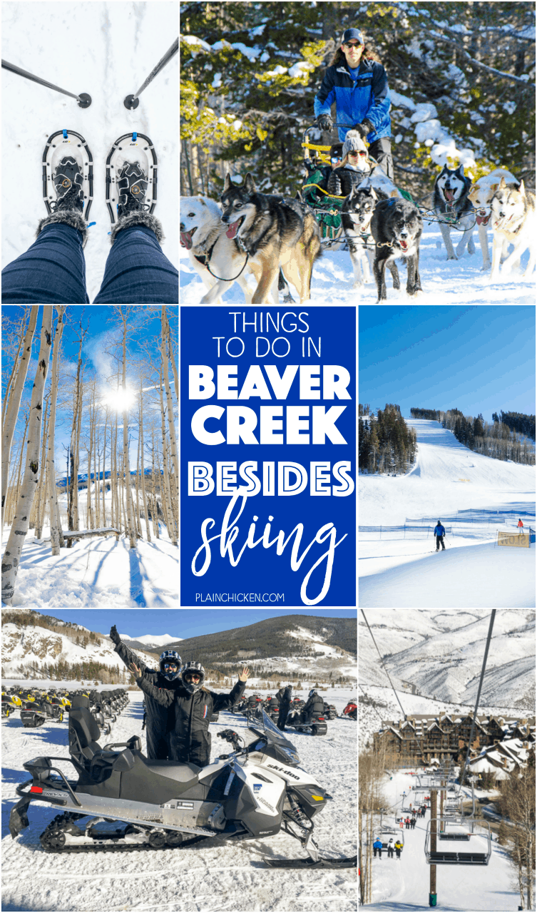 Things to do in Beaver Creek, CO (Besides Skiing) - skiing is the main attraction in Beaver Creek, but there is SO much more to do!!! Even if you are an avid skier, you aren't going to want to miss out on these fun activities!