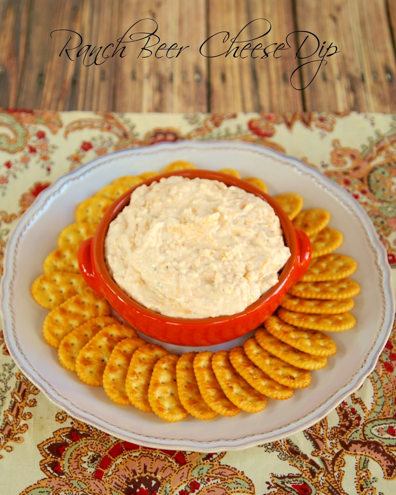 Ranch Beer Cheese Dip - great for parties! Beer, cheddar cheese, ranch dressing mix and cream cheese. Can make in advance and refrigerate until ready to serve. This is always a hit at parties!! #dip #cheese #appetizer