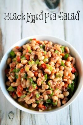 bowl of black eye pea salad