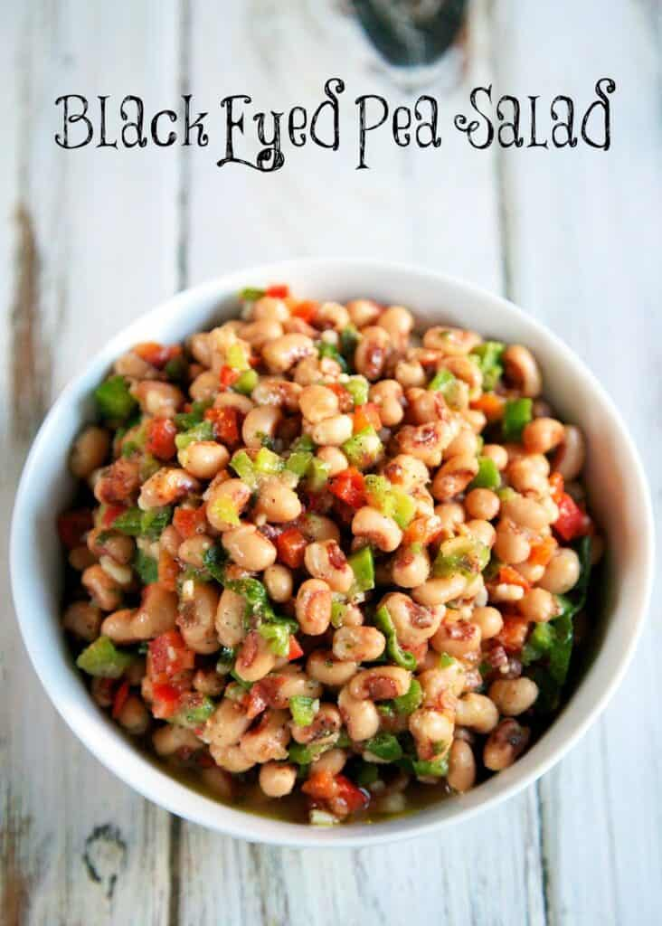 bowl of black eye pea salad