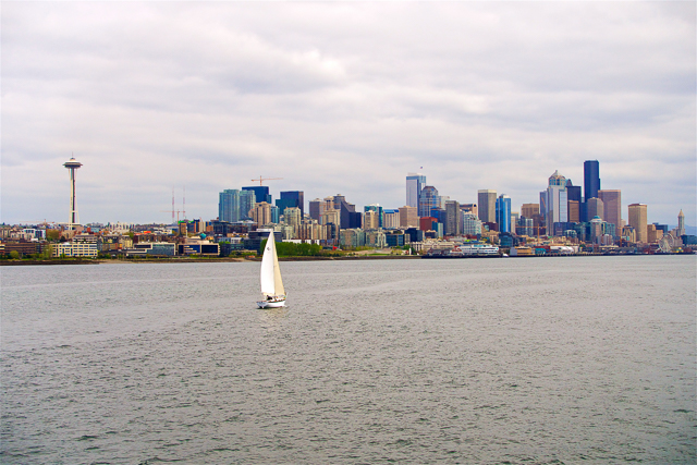 View of Seattle from the waterfront boat tour