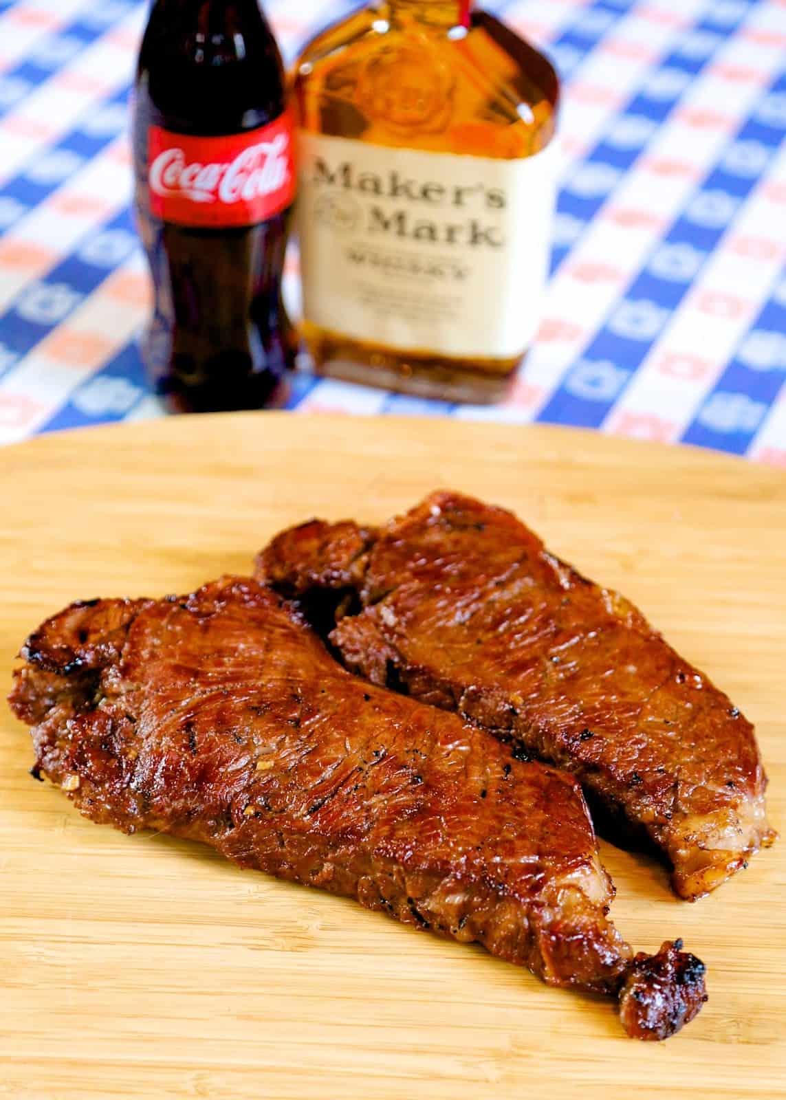 bourbon and coke steaks