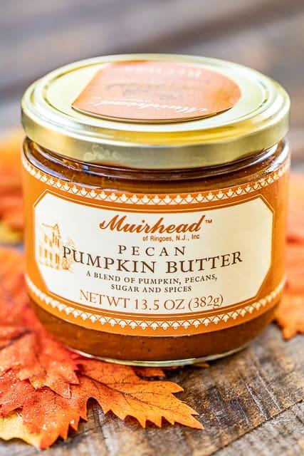 jar of pumpkin butter