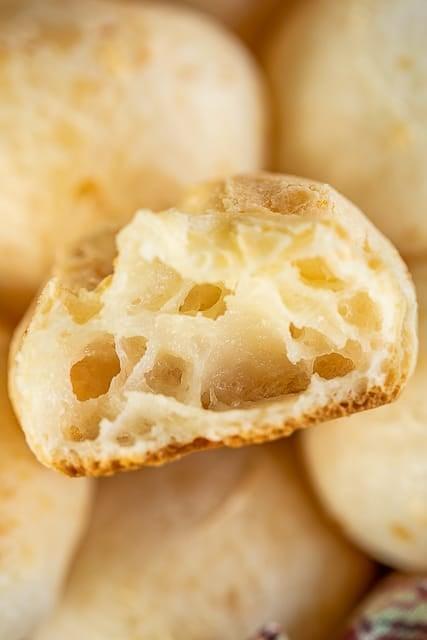inside of Brazilian cheese bread
