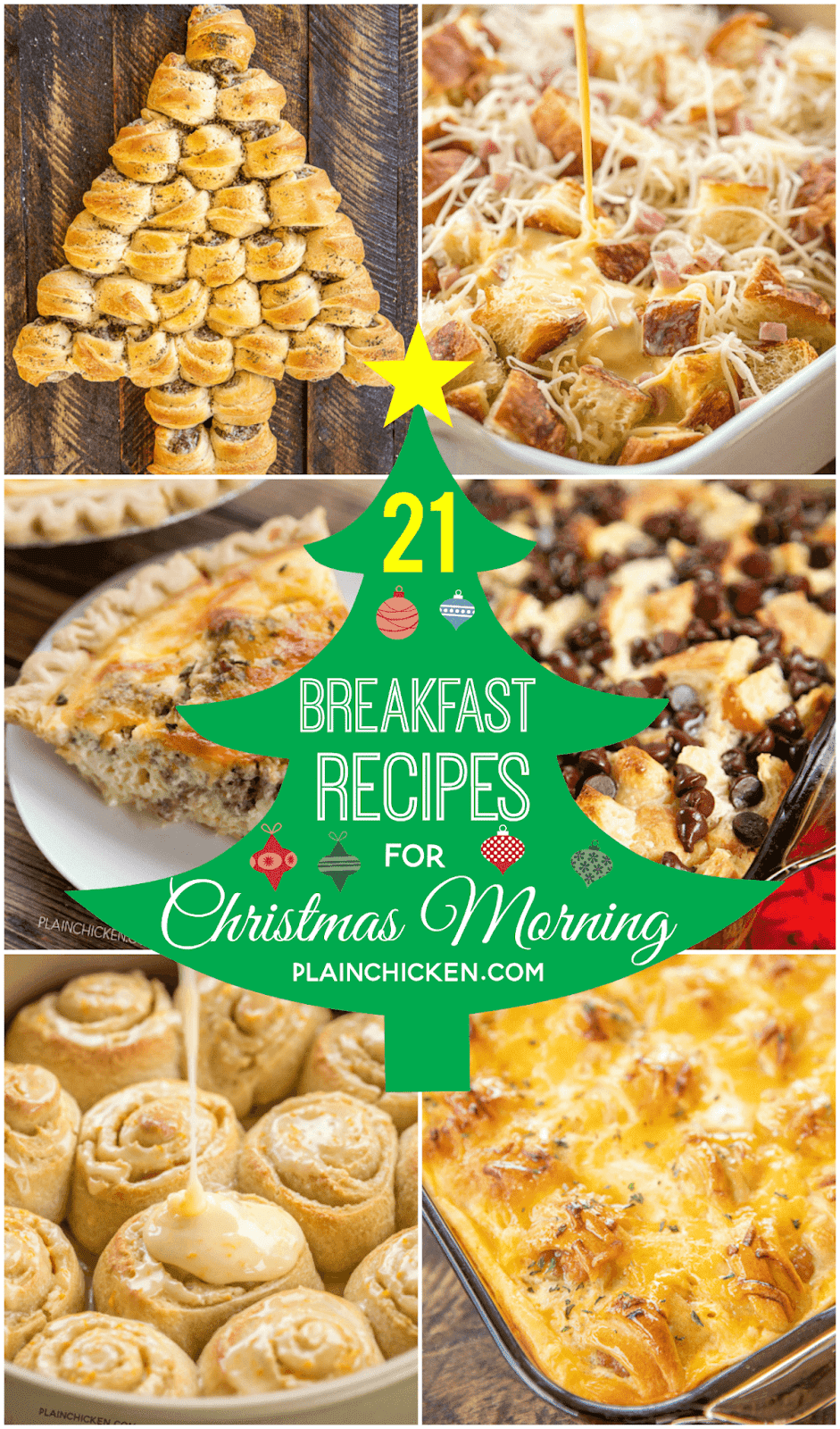 21 Breakfast Recipes for Christmas Morning - something for everyone! Sweet and savory. Casseroles and finger foods. These are all tried and true recipes that will make your holiday morning delicious!