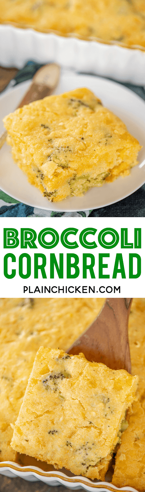 cornbread slice on a plate