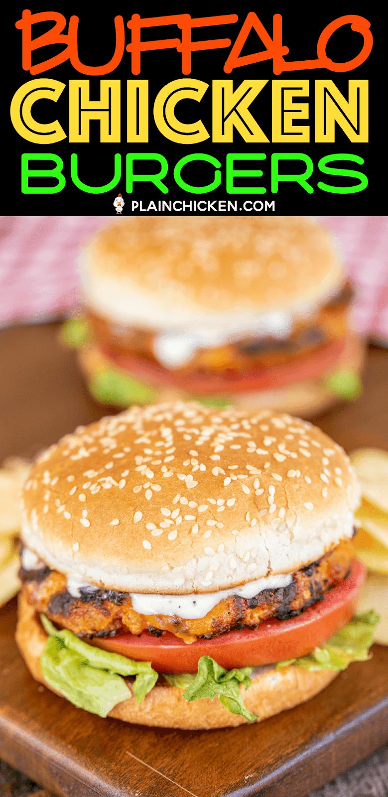 ground chicken burgers on a bun