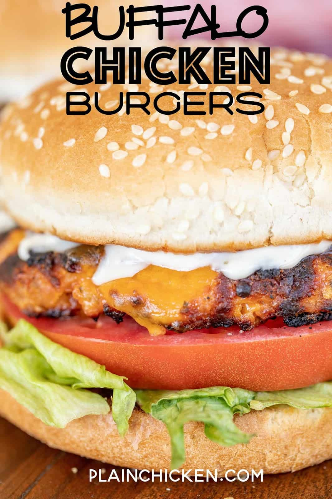 ground chicken burger on a bun
