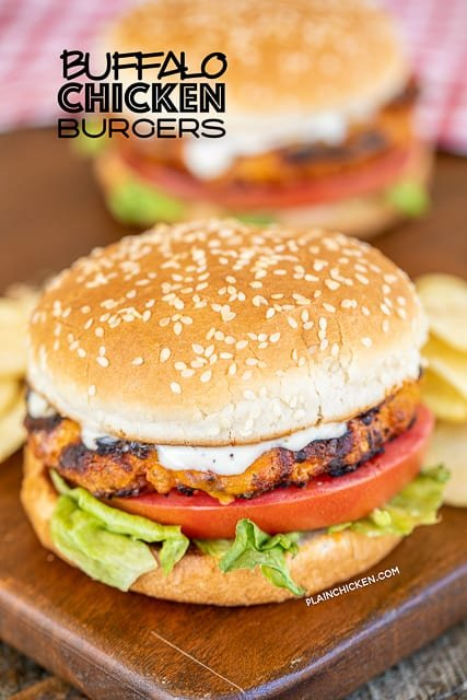 chicken burger on a board