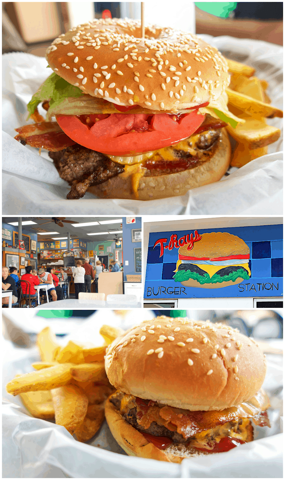 T-Ray's Burger Station in Fernandina Beach - fabulous homemade burgers and fries. Located in an old gas station. Open for breakfast and lunch.