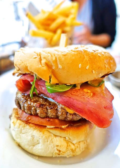 The Bacon Burger from Cafe Saint Regis in Paris - Sunday Brunch is a MUST when you are in Paris.