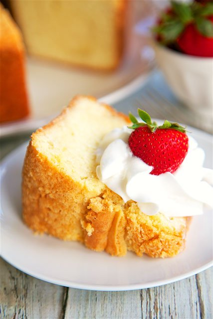 Buttermilk Pound Cake - THE BEST! There are never any leftovers when I take this to a potluck. Sugar, shortening, eggs, buttermilk, baking soda, flour and vanilla, butter and nut flavoring. Makes a great gift! Freezes well too!!