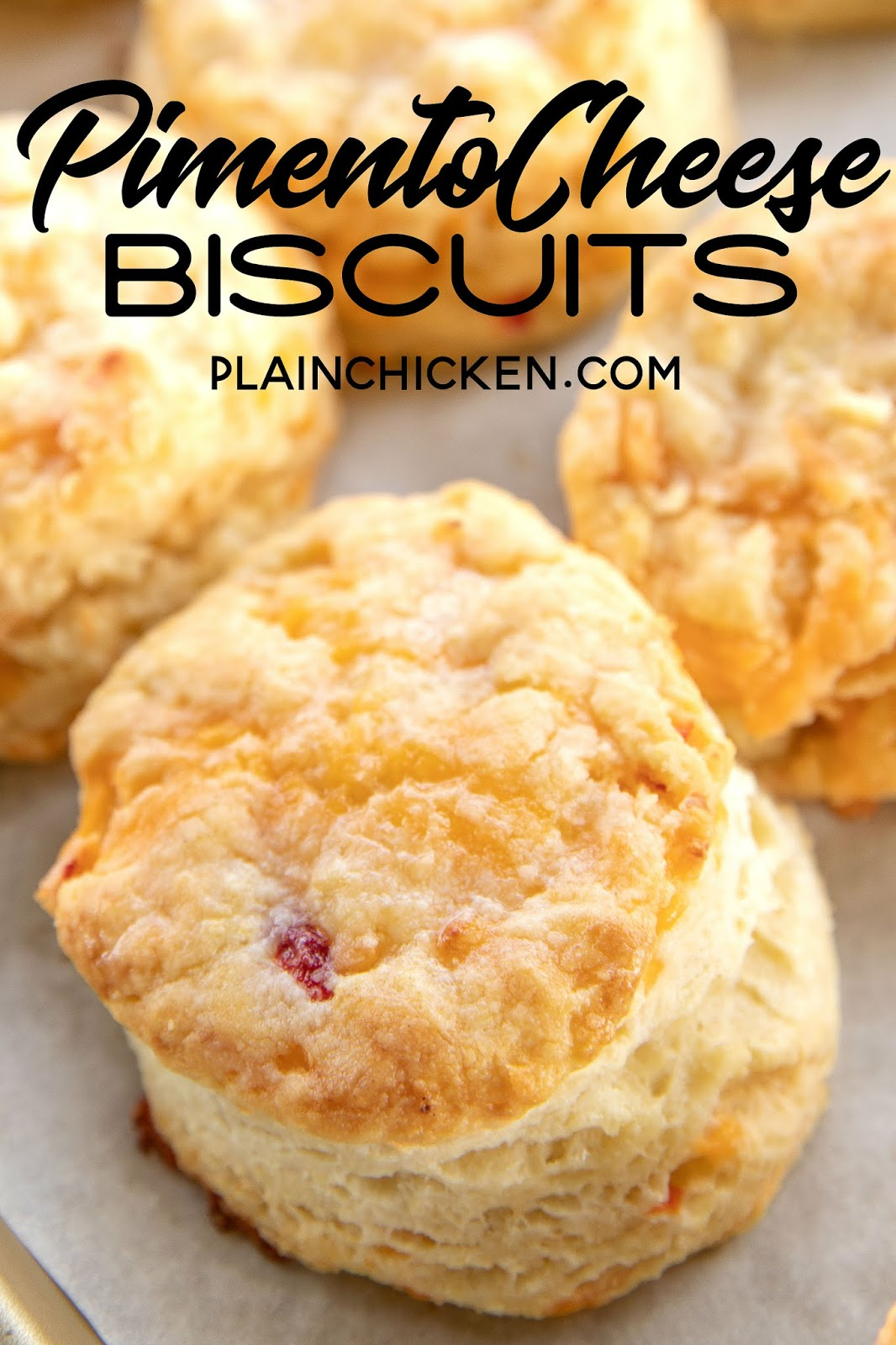 fresh baked biscuits on a baking sheet