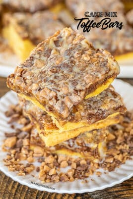toffee bars on a plate