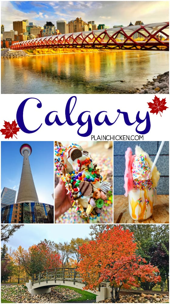 Calgary, AB Canada - where to stay, what to do and where to eat! The BEST burgers, crazy milkshakes and ice cream. Also the best spot to watch the sunset.