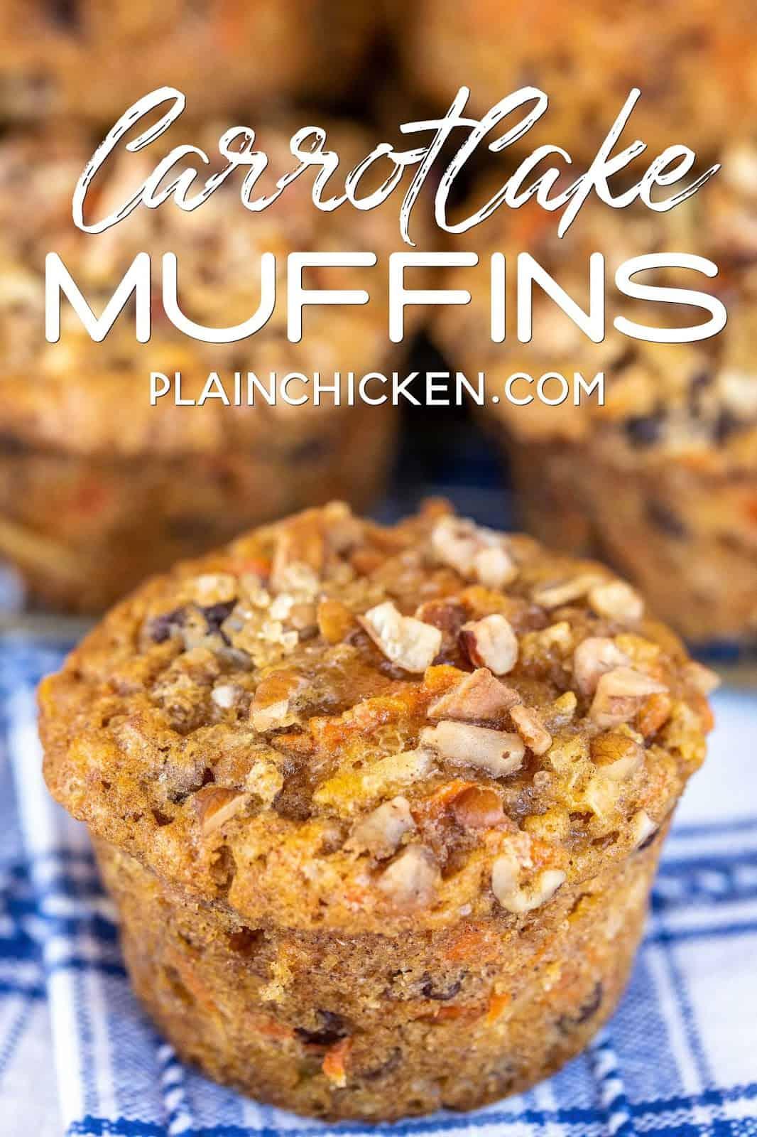 Carrot Cake Muffins Plain Chicken