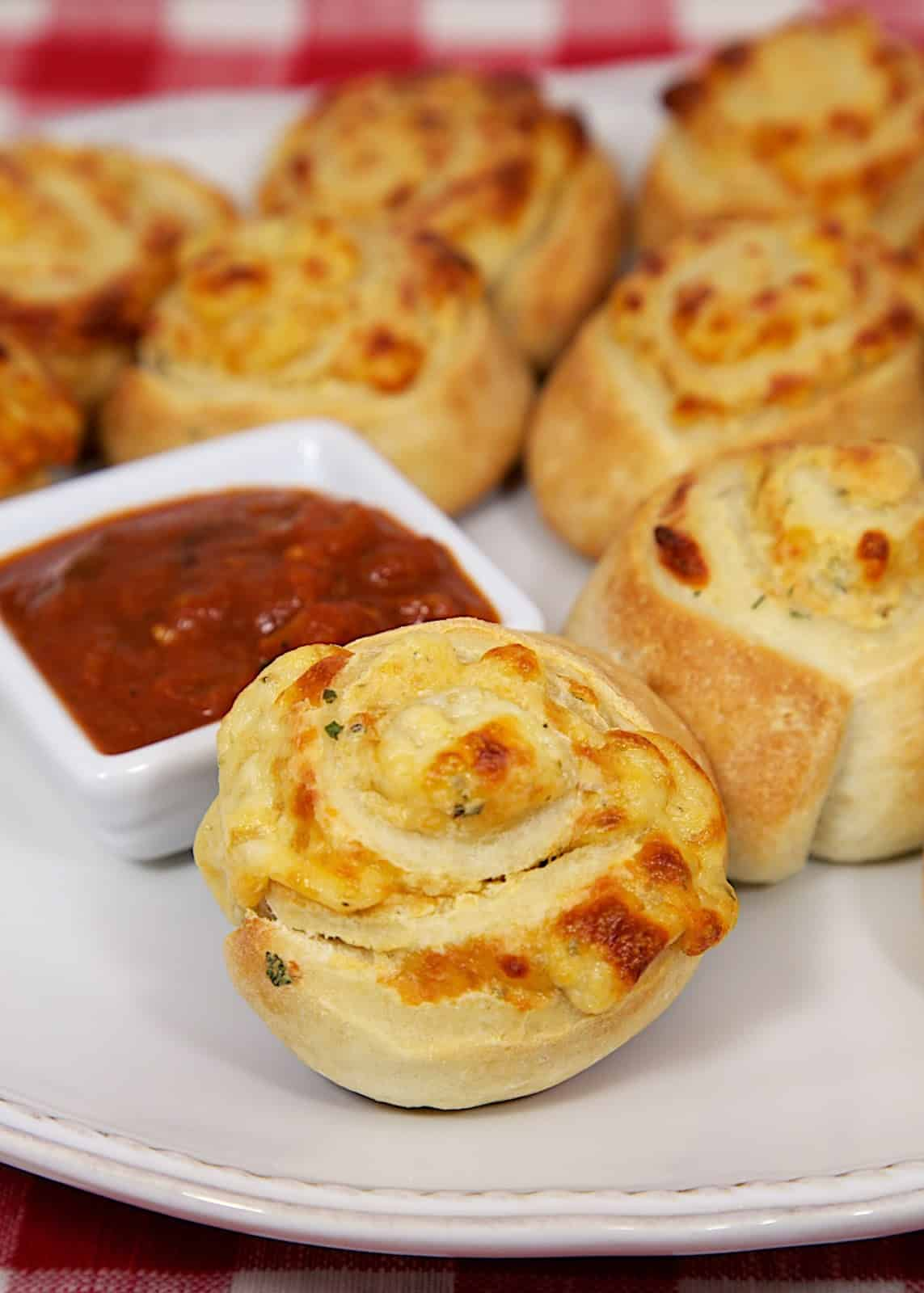 Cheesy Garlic Pinwheels