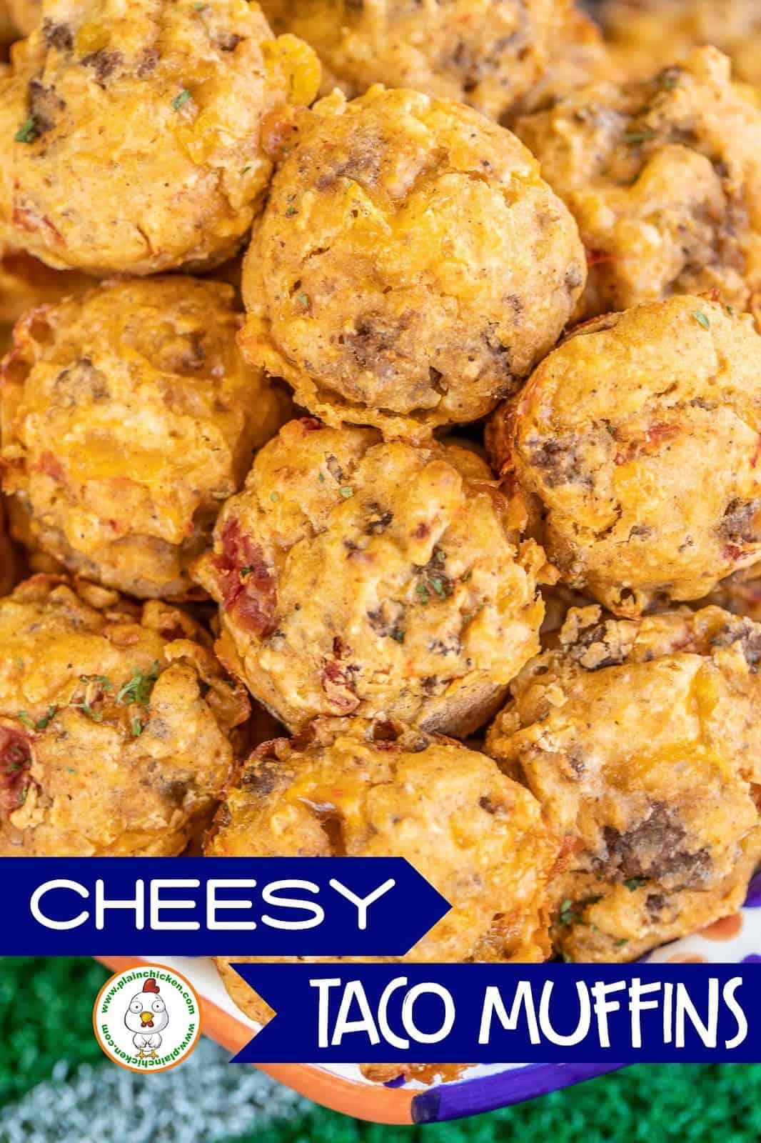 taco mini muffins on a platter