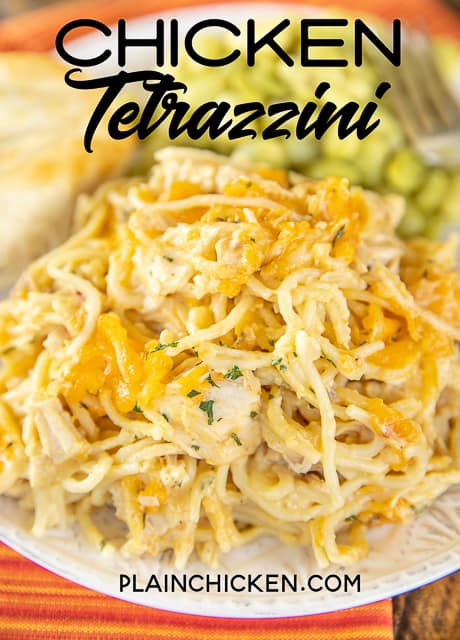 plate of chicken tetrazzini