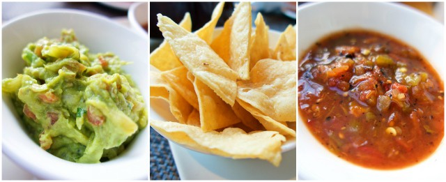 Chips, Salsa and Guacamole at Trader Vic's in the Beverly Hilton - Los Angeles, CA