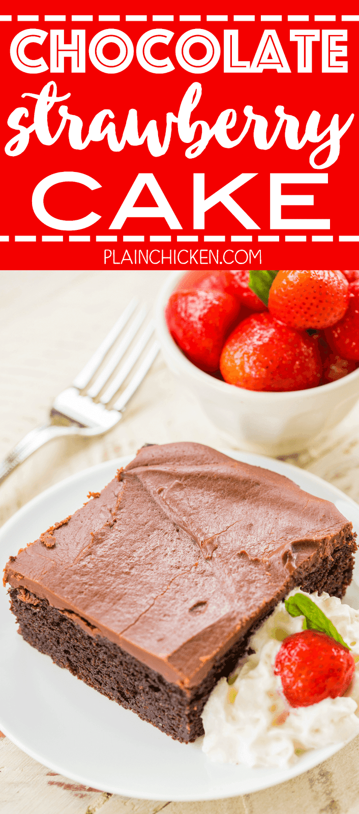 Chocolate Strawberry Pie Cake Plain Chicken