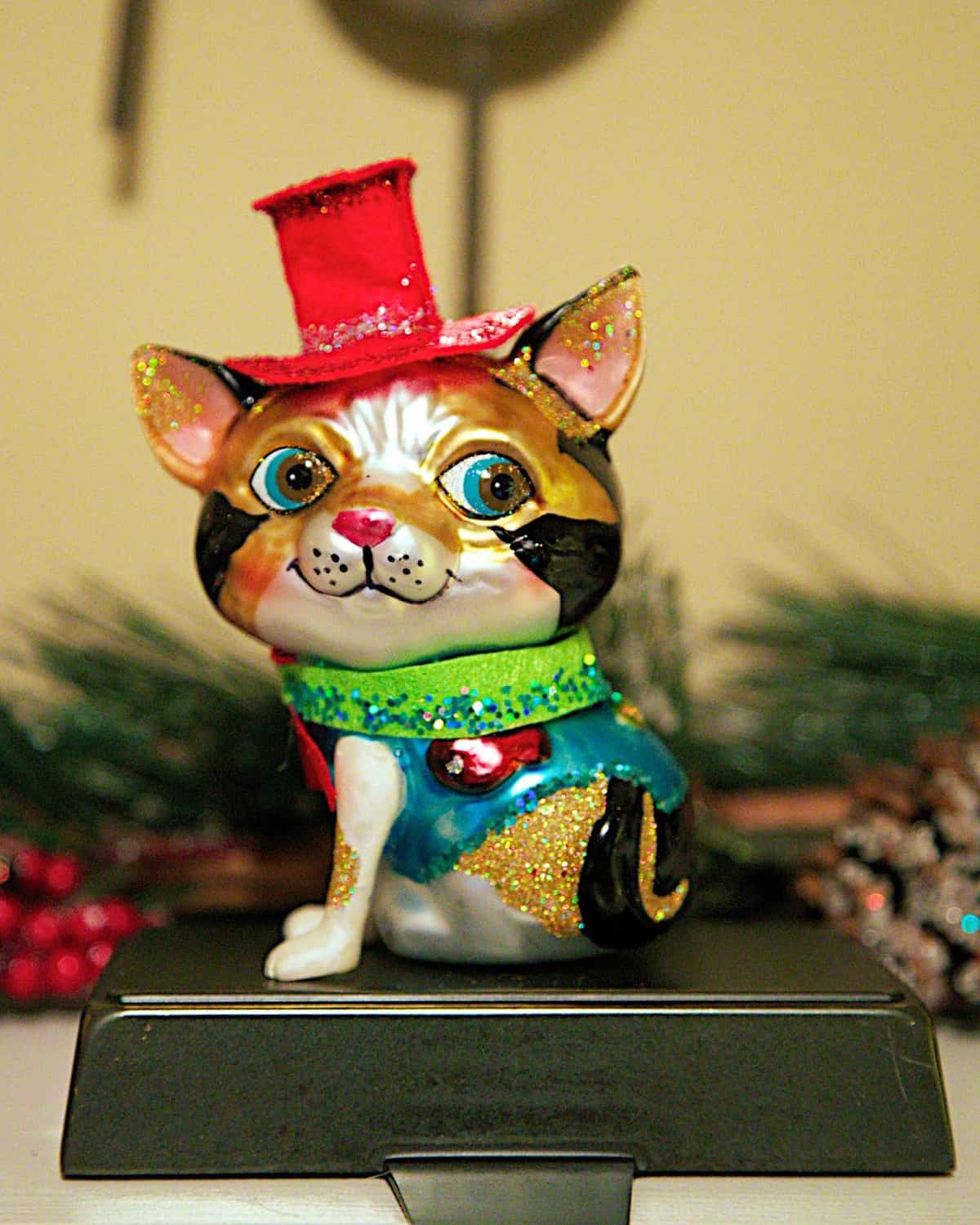 Glass Calico Ornament from Muinch