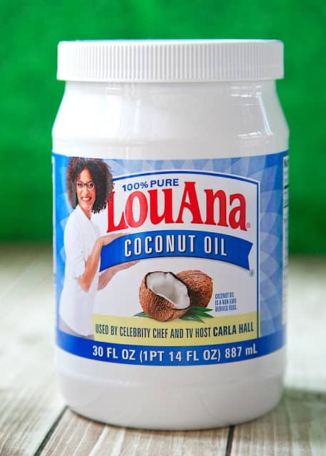 LouAna® 100% Pure Coconut Oil - great to use in all your baking! Substitute 1:1 for butter and shortening.