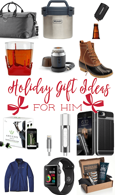 Holiday Gift Ideas for Him - great list of gift ideas for the men in your life. From stocking stuffers to splurges. Something for everyone!