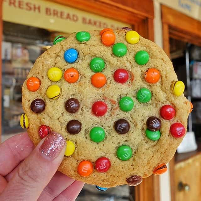 Three Girls Bakery in Pike Place Market - Seattle, WA - these were the best cookies I've ever eaten! We fought over this M&M Cookie!